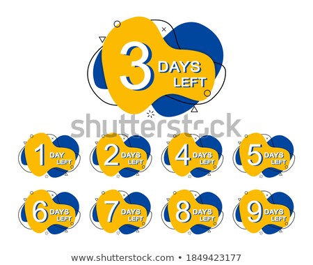 number of days left badge in line style Stock photo © SArts