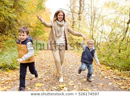 madre · dos · jóvenes · ninos · tomados · de · las · manos - foto stock © monkey_business