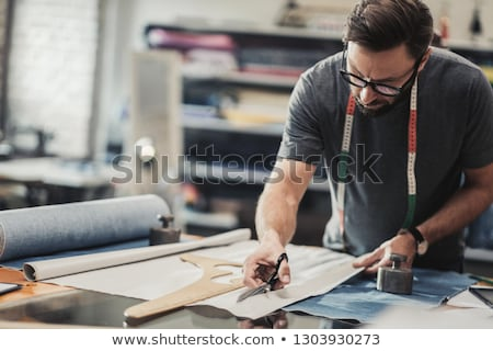 Jonge kleermaker werken workshop business man Stockfoto © Elnur