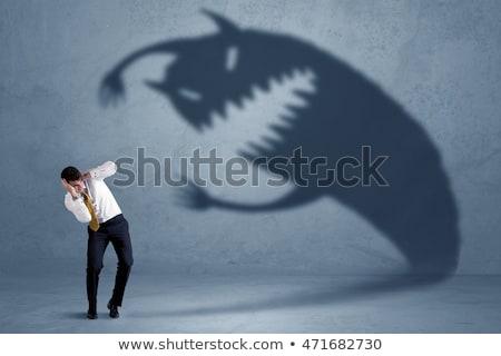 Diabeł zły biznesmen biuro działalności przestrzeni Zdjęcia stock © Elnur