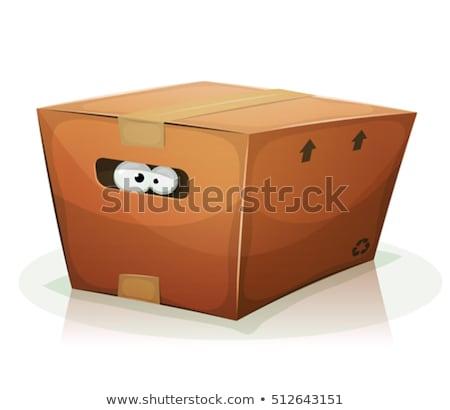 Cartoon cane nascondere illustrazione dietro segno Foto d'archivio © cthoman