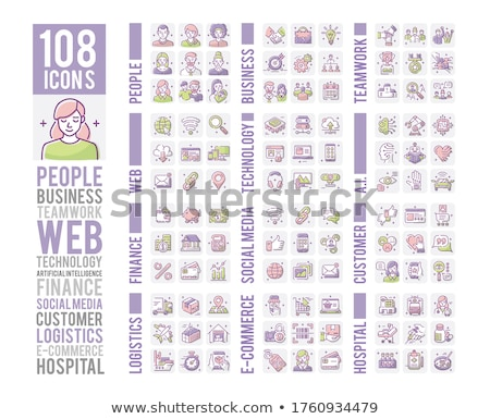dollár · valuta · ikon · stílus · pénzügy · színpad - stock fotó © robuart