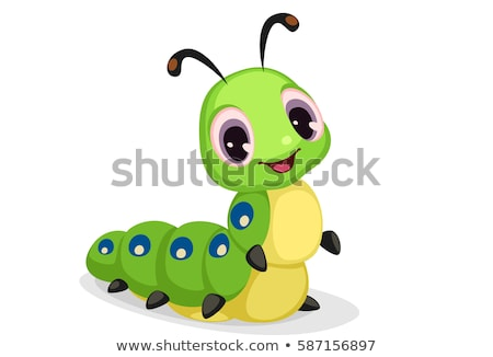 Cartoon Caterpillar Smiling Stock photo © cthoman