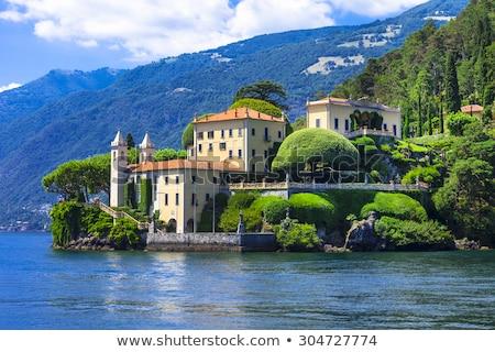 ガルダ湖 · 町 · イタリア · ヴェローナ · 水 · 家 - ストックフォト © boggy