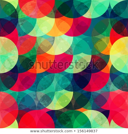 Rainbow hipster green and blue style seamless vector pattern. stock photo © yopixart