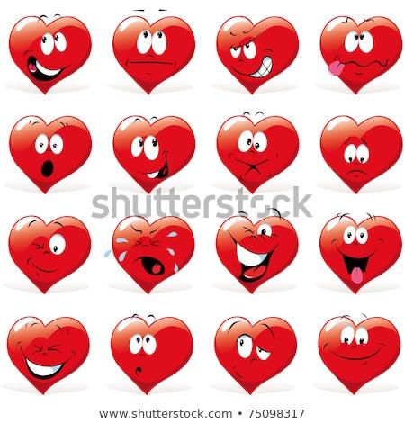 Cartoon hart vervelen illustratie grafische Stockfoto © cthoman