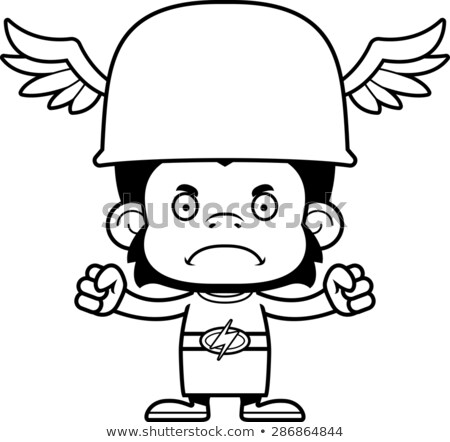 cartoon angry hermes chimpanzee stock photo © cthoman