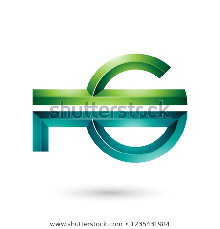 Dark and Light Green Abstract Key-like Symbol Vector Illustratio Stock photo © cidepix