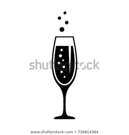 üveg buli bor háttér pezsgő fehér Stock fotó © fanfo