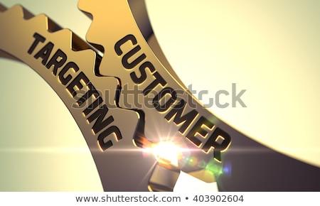 Vásárló célzás mechanizmus fémes fogaskerekek 3D Stock fotó © tashatuvango