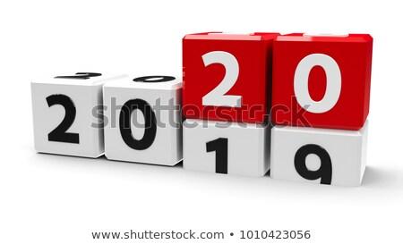 White cubes 2019 #3 Stock photo © Oakozhan