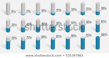 Staafdiagram infographics communie verschillend kleuren geïsoleerd Stockfoto © kyryloff