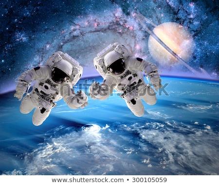 Сток-фото: два · странно · планеты · иллюстрация · природы · пейзаж