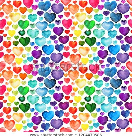 Valentine Multicolor hearts Stock photo © alexaldo