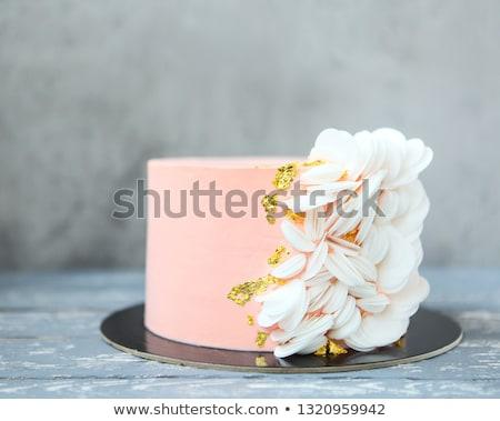 różowy · baby · ciasto · dekoracji · szczegóły · kwiat - zdjęcia stock © dashapetrenko