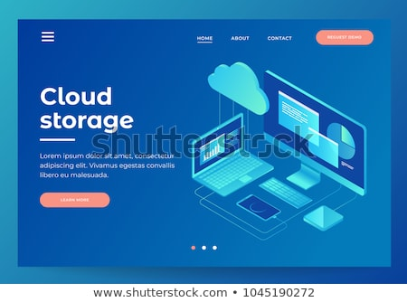 Wolk opslag banner twee ontwikkelaars Stockfoto © RAStudio