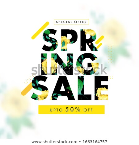 Spring Best Offer Reduction of Price Vector Poster Stock photo © robuart