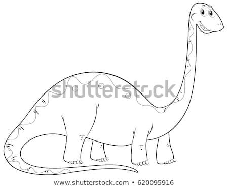 動物 長い 首 恐竜 実例 ストックフォト © colematt