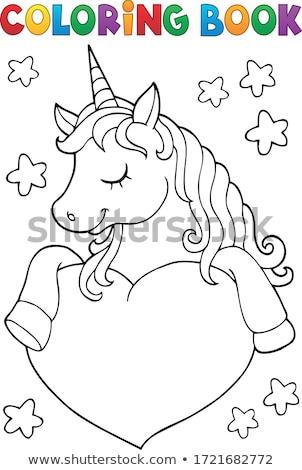 stylized unicorn head theme image 1 stock photo © clairev