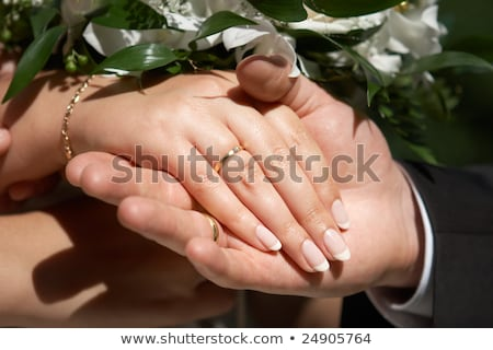Couple's Hand Showing There Wedding Rings Stock photo © AndreyPopov