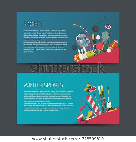 Jégkorong képzés tél játékok sportok háló Stock fotó © robuart