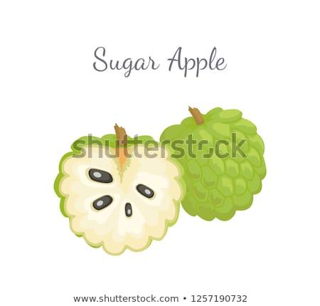 Vla appel geïsoleerd icon exotisch sappig Stockfoto © robuart