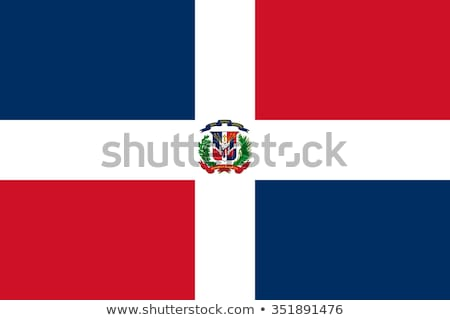 dominicana flag vector illustration on a white background stock photo © butenkow