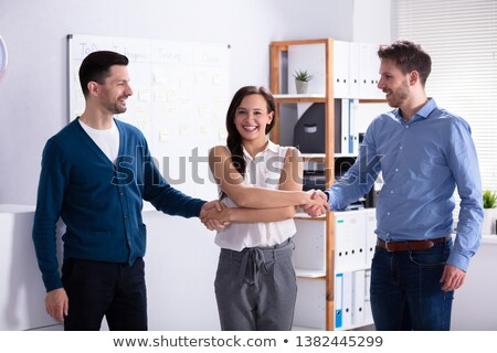 Woman Acting As Middleman Stock photo © AndreyPopov