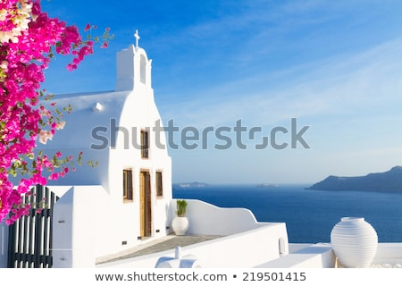 Gyönyörű részletek Santorini sziget Görögország emberek Stock fotó © neirfy
