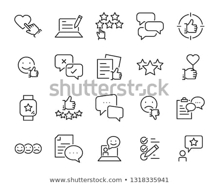 Customer Testimonial Review Message Set Vector Stock photo © pikepicture