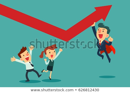 Business Heroes Businessman and Businesswoman Stock photo © robuart