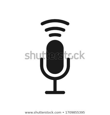 Microfoon icon ontwerpsjabloon vector grafisch ontwerp sjabloon Stockfoto © haris99