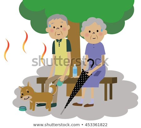 Summer heat stroke grandfather Stock photo © Blue_daemon