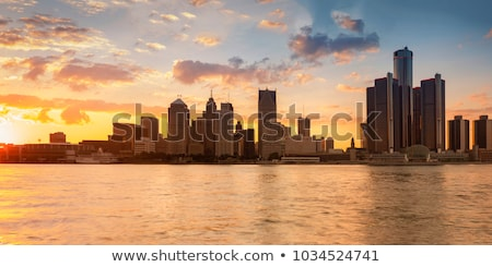 Detroit stadsgezicht Michigan stad panorama skyline Stockfoto © Winner
