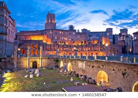 Starożytnych rynku forum placu Rzym świcie Zdjęcia stock © xbrchx