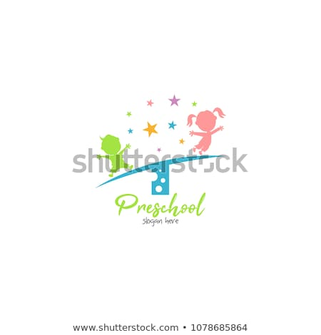 Children drawing in playgroup of nursery school Stock photo © Kzenon