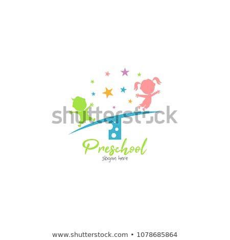 óvoda · gyerekek · festmény · papír · festék · művészet - stock fotó © kzenon