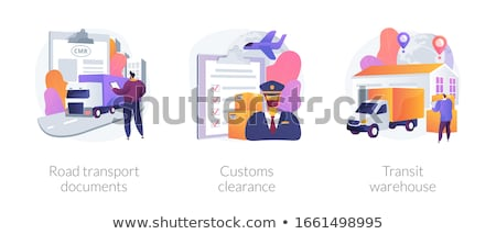 Transit warehouse concept vector illustration Stock photo © RAStudio