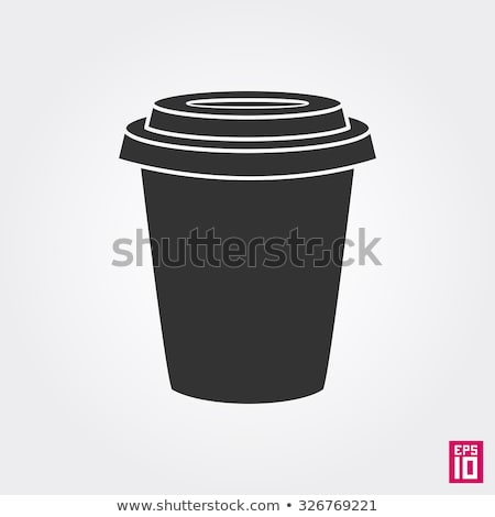 Monochrome Disposable Cup for Espresso and Latte Stock photo © robuart