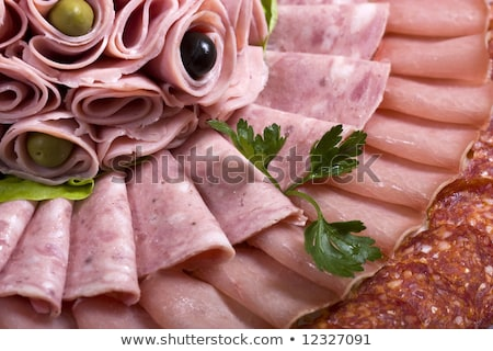sliced food arrangement with some vegetables stock photo © fanfo