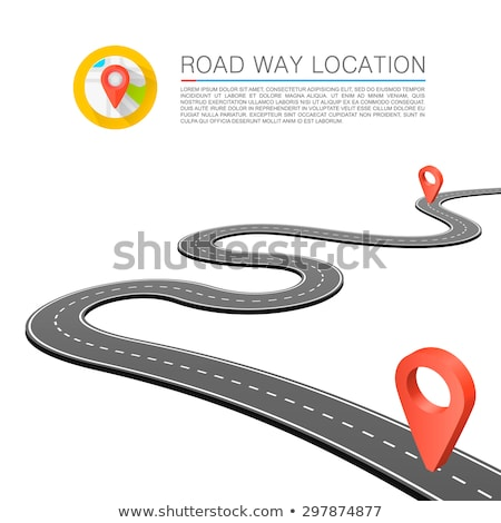 abstract winding road on yellow background design Stock photo © SArts