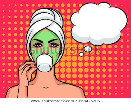 スパ ビューティーサロン 女性 飲料 茶 ベクトル ストックフォト © robuart