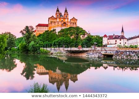 Abdij Oostenrijk hoog punt barok kerk Stockfoto © borisb17