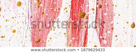 abstract acrylic paint strokes art brush flatlay background stock photo © anneleven