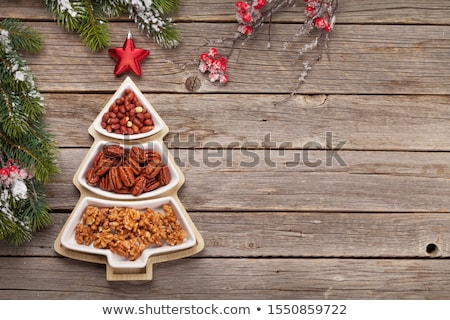 christmas card with various nuts stock photo © karandaev