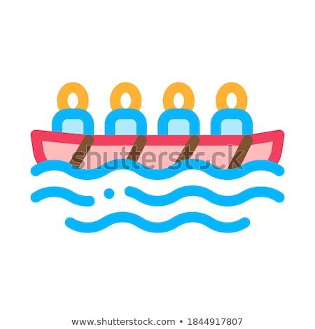ボート · ヘルメット · アイコン · ベクトル · 薄い · 行 - ストックフォト © pikepicture