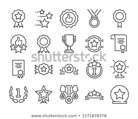 Schets illustraties ingesteld winnaar kleur Stockfoto © barsrsind