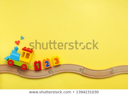 plastic kids blocks frame with text space Stock photo © SArts
