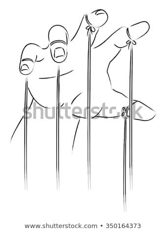 Hands String Art Illustration Stock photo © lenm