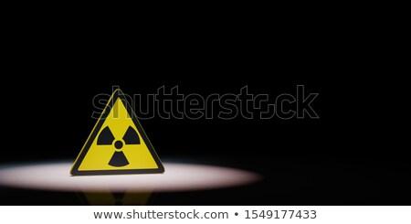 Strahlung Gefahr Symbol schwarz Kopie Raum 3D-Darstellung Stock foto © make